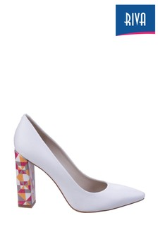 Riva White Pandoro On Court Shoes