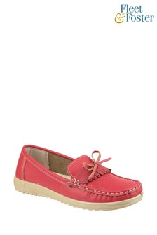 Fleet & Foster Red Elba Loafer Shoes