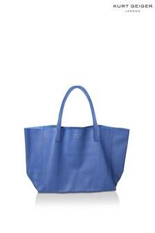 Kurt Geiger London Violet Horizontal Mid Blue Tote Bag