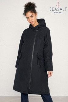 Seasalt Black Pentewan Coat