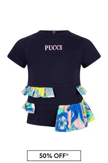 Emilio Pucci Baby Navy T-Shirt