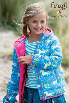 Frugi Recycled Pack Away Jacket In Unicorn Print