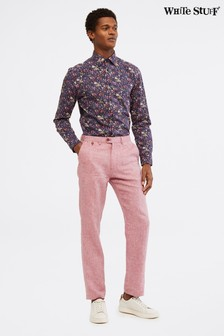 White Stuff Pink Northcote Linen Trousers