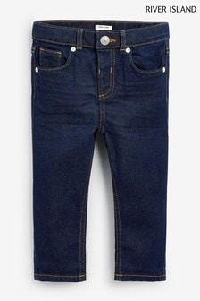 River Island Dark Blue Sid Rinse Pluto Jeans