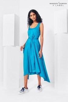 Marques Almeida x Label Satin Slip Dress