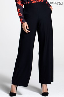 HotSquash Black Luxe-Lounge Wide Leg Crepe Trousers