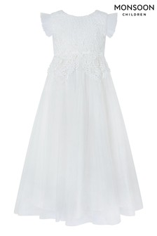 Monsoon Ivory Milla Crochet Maxi Dress