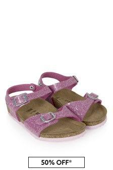Birkenstock Pink Rio Sandals