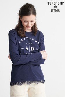 Superdry Tilly Lace Graphic Top