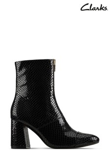 Clarks Black Interest Laina85 Ankle Boots