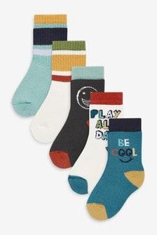 Ribbed Sport Socks 5 Pack