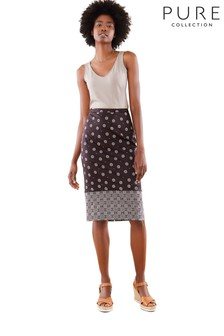 Pure Collection Black Pencil Skirt