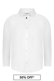 Paul Smith Junior Boys White Cotton Shirt