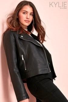 Kylie Black PU Biker Jacket