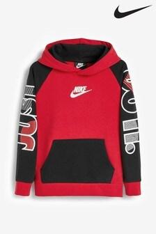 Nike Little Kids Red JDI Overhead Hoody