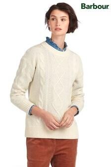 Barbour® Heritage Cream Aran Cable Wilsmith Jumper