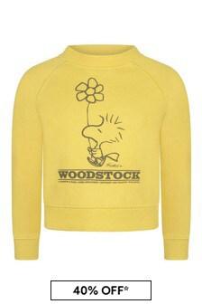 Yellow Cotton Peanuts Sweatshirt