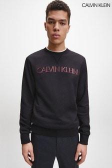 Calvin Klein Black 3D Embroidery Logo Sweatshirt