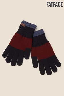 FatFace Blue Touchscreen Colourblock Gloves