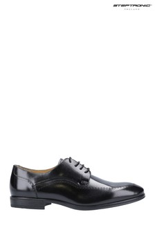 Steptronic Black Fareham Lace-Up Shoes