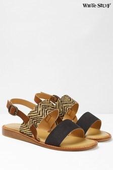 White Stuff Black Elodie Mini Wedge Sandals