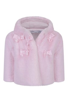 Baby Girls Faux Fur Pink Coat