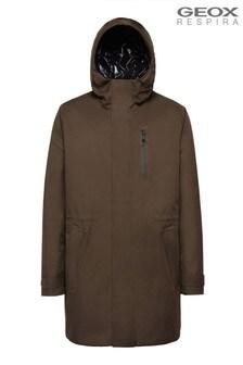 Geox Man's Clintford Dark Tarmac Green Jacket