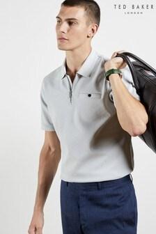 Ted Baker Dodgem Short Sleeved Zip Poloshirt