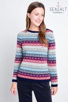 סוודר של Seasalt דגם Myrtle Cottage Beryllium Mainsail באפור