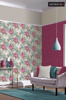 Painted Dahlia Wallpaper by Arthouse