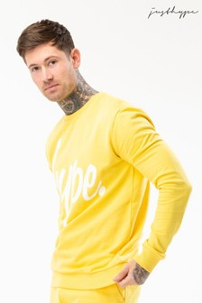 Hype. Yellow Script Crew Sweater