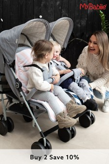 Samantha Faiers Grey Melange Double Stroller by My Babiie