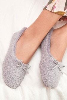 Borg Ballerina Slippers