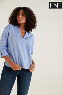 F&F Chambray Popover Shirt