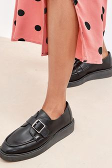 Buckle Detail Wedge Shoes