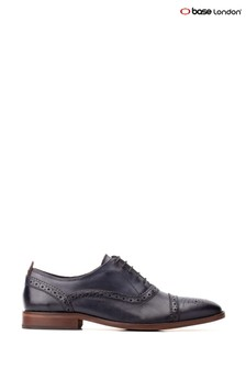 Base London® Blue Cast Washed Lace-Up Brogue Shoes
