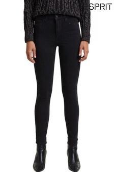 Esprit Womens Black Skinny High Waist Jeans