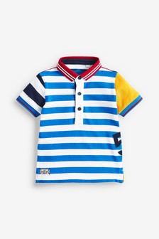 Short Sleeve Stripe Poloshirt (3mths-7yrs)