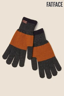 FatFace Ochre Touchscreen Colourblock Gloves
