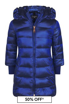 Girls Blue Down Padded Coat