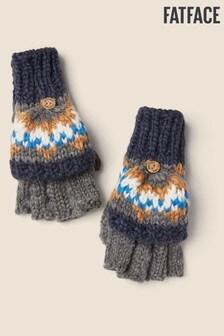 Modré rukavice s nórskym vzorom FatFace