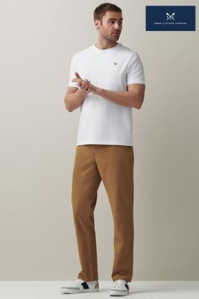 Crew Clothing Company Tan Ultimate Straight Chinos