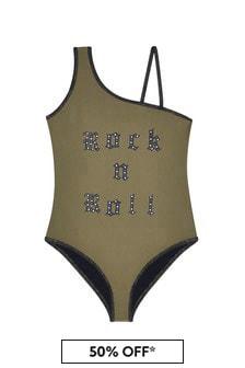 Zadig & Voltaire Girls Khaki Swimsuit