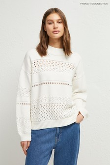French Connection White Trista Mozart Jumper