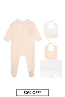 Chloe Girls Pink Cotton Babygrow