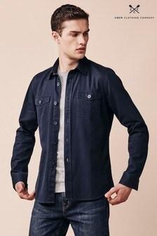 Crew Clothing Company Blue Lockwood Overshirt