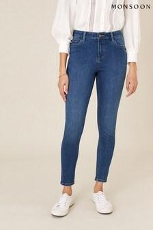 Monsoon Blue Iris Short-Length Skinny Jeans