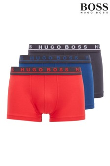 BOSS Blue Trunk Boxers 3 Pack