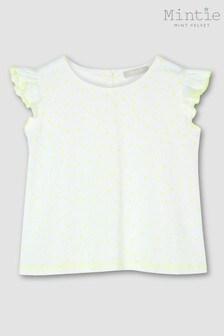 Mintie by Mint Velvet White Neon Spot Print T-Shirt