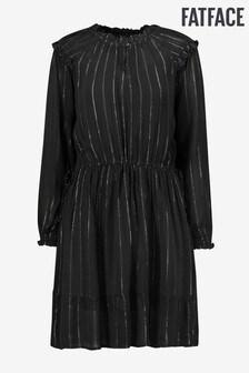 فستان لامع Coralie أسود نحاسي من FatFace
